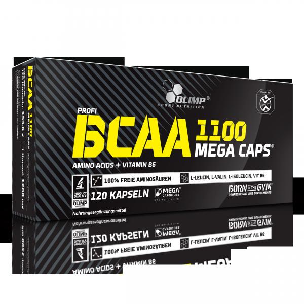 BCAA Mega Caps 1100 (120 Caps), Olimp