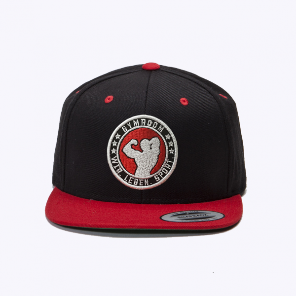 Snapback Cap Black/Red, Gymroom