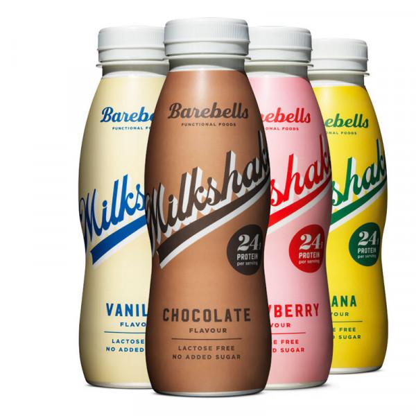 8 x Barebells Milkshake 330ml Protein Drinks