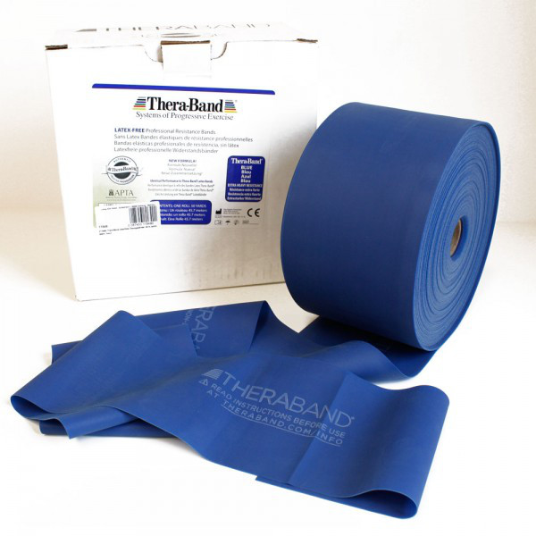 Thera-Band® BLAU Extra Schwer Gymnastikband THERABAND - Meterware