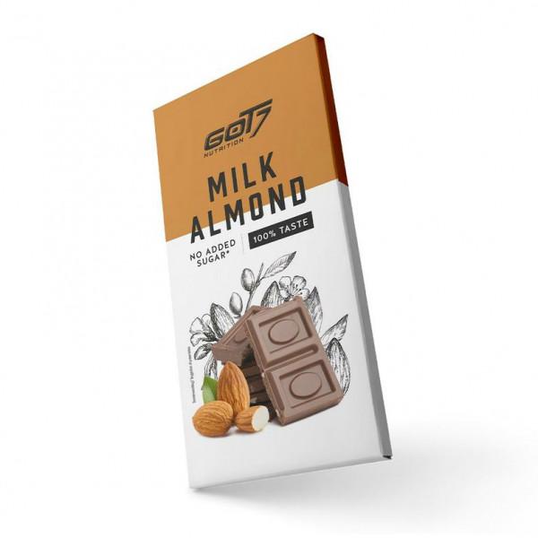 Chocolate Bar Milk Almond (75g), Got7