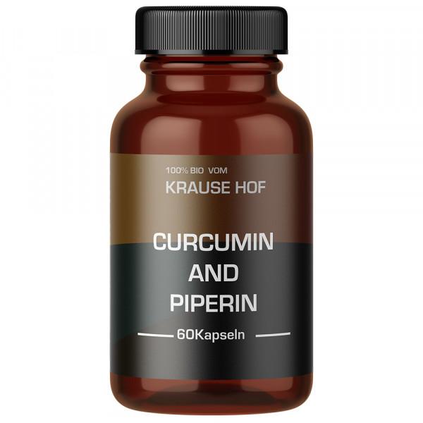 Curcumin & Piperin (90 Kapseln), Krause Hof