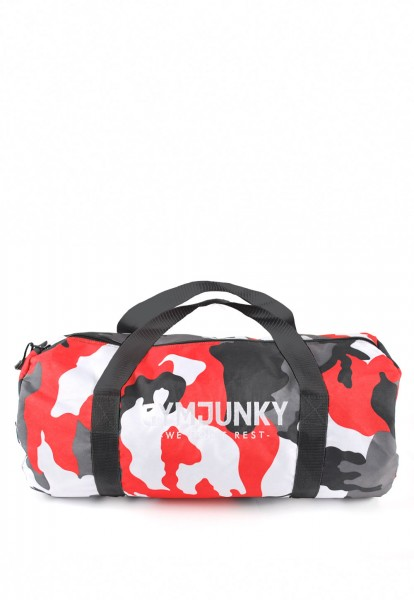 Dufflebag Camo-Red, Gymjunky