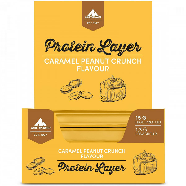 Protein Layer 18x50g - Peanut Caramel Crunch MHD 29.01.21