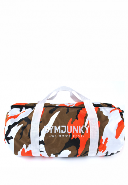 Dufflebag Camo-Orange, Gymjunky