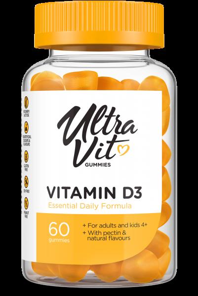 Vitamin D3 (60 Gummies), Ultravit