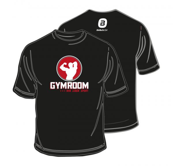 Gymroom T-Shirt Rundhals Black