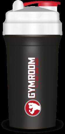 Gymroom Shaker Plus (750ml) - Black/White/Red
