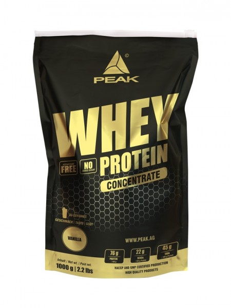 Whey Protein Concentrate (1000g), Peak