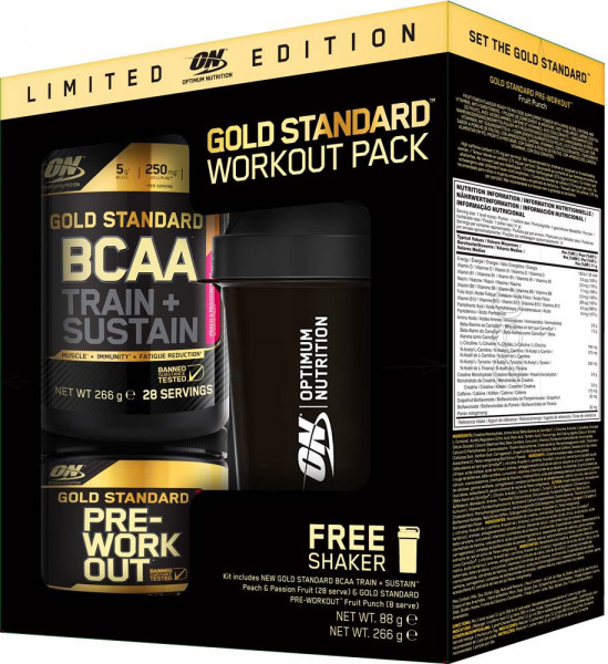 BCAA + Preworkout + Shaker Set Optimum
