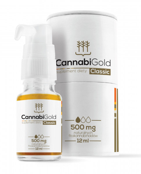 Cannabi Gold Classic 500mg (12 ml) - MHD 28.02.2021