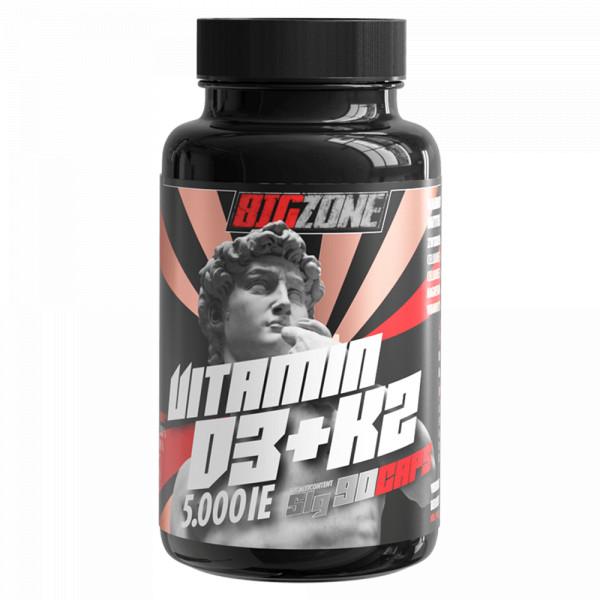 Vitamin D3 + K2 (90 Kapseln), BigZone