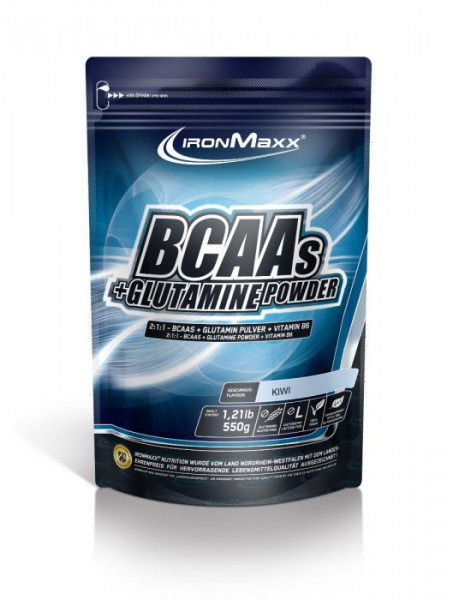 BCAA + Glutamin Powder (550g), Ironmaxx