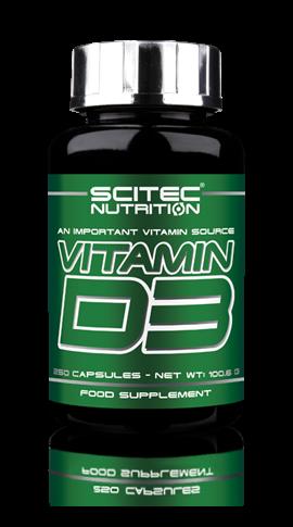 Vitamin D3 (250 Caps), Scitec Nutrition
