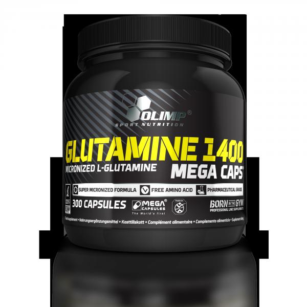 L-Glutamine Mega Caps 1400 (300 Caps), Olimp