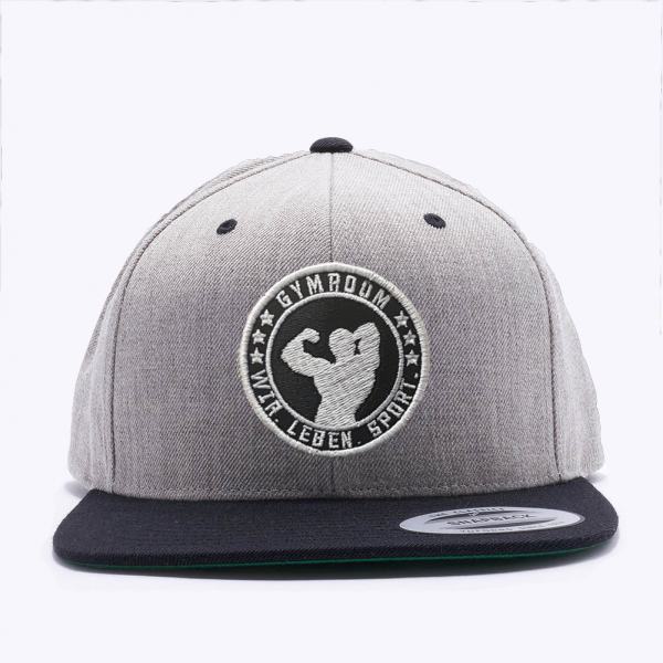 Snapback Cap Grey/Black, Gymroom
